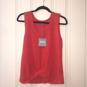 Marled Sleeveless Sweater Size M